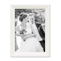 Bilderrahmen Landhaus-Stil Weiss 21x30 cm DIN A4 Holz-Rahmen / Fotorahmen / Portraitrahmen