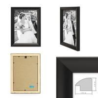 Bilderrahmen Landhaus-Stil Schwarz 21x30 cm DIN A4 Holz-Rahmen / Fotorahmen / Portraitrahmen  – Bild 2