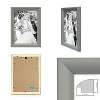 Bilderrahmen Landhaus-Stil Grau 21x30 cm DIN A4 Holz-Rahmen / Fotorahmen / Portraitrahmen  – Bild 2