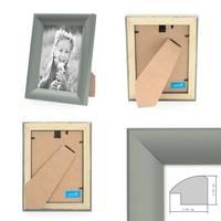 2er Set Bilderrahmen Landhaus-Stil Grau 13x18 cm Holz-Rahmen / Fotorahmen / Portraitrahmen  – Bild 2