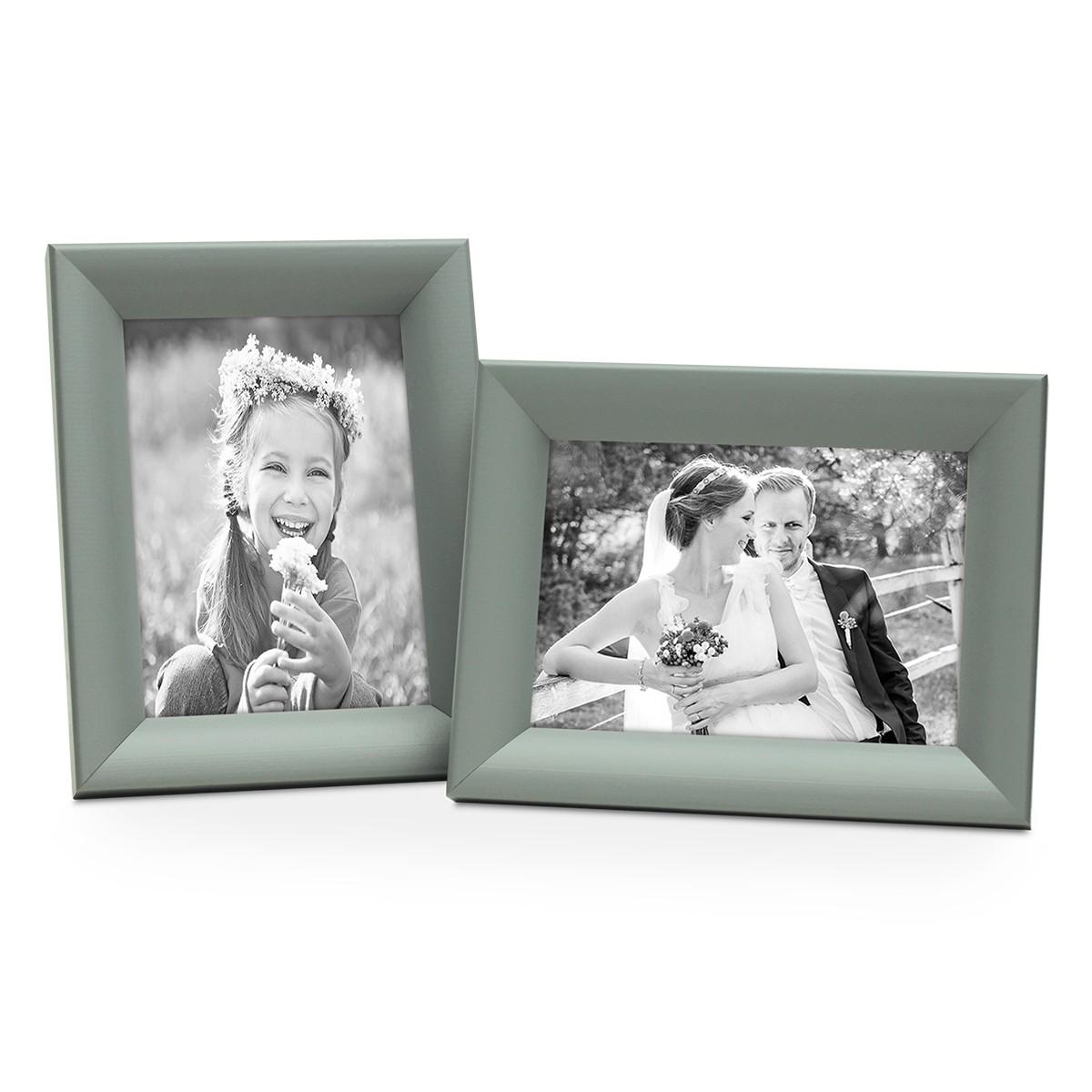 2er set bilderrahmen landhaus stil grau 15x20 cm holz rahmen fotorahmen portraitrahmen. Black Bedroom Furniture Sets. Home Design Ideas