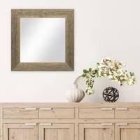 Wand-Spiegel 30x30 cm im Massivholz-Rahmen Strandhaus-Stil Breit Eiche-Optik Rustikal / Spiegelfläche 20x20 cm – Bild 2