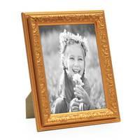 2er Set Bilderrahmen Antik Gold Nostalgie 10x15 cm Fotorahmen mit Glasscheibe / Kunststoff-Rahmen – Bild 3