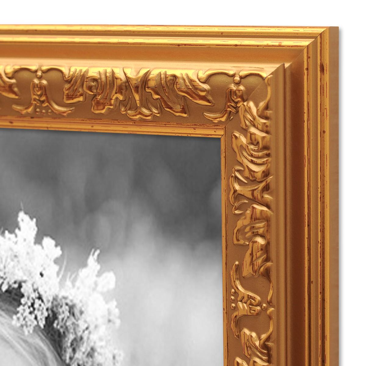 Bilderrahmen Antik Gold Nostalgie 21x30 cm DIN A4 Fotorahmen mit ...