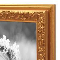 2er Set Bilderrahmen Antik Gold Nostalgie 15x20 cm Fotorahmen mit Glasscheibe / Kunststoff-Rahmen – Bild 6