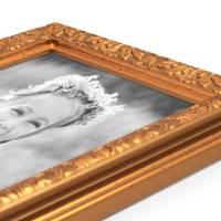 2er Set Bilderrahmen Antik Gold Nostalgie 15x20 cm Fotorahmen mit Glasscheibe / Kunststoff-Rahmen – Bild 4