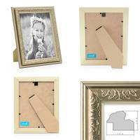 2er Set Bilderrahmen Antik Silber Nostalgie 13x18 cm Fotorahmen mit Glasscheibe / Kunststoff-Rahmen – Bild 2