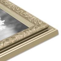2er Set Bilderrahmen Antik Silber Nostalgie 13x18 cm Fotorahmen mit Glasscheibe / Kunststoff-Rahmen – Bild 7