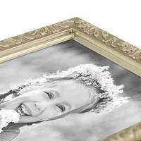 2er Set Bilderrahmen Antik Silber Nostalgie 21x30 cm DIN A4 Fotorahmen mit Glasscheibe / Kunststoff-Rahmen – Bild 3