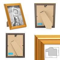 3er Set Bilderrahmen Gold Barock Antik 10x15 cm Fotorahmen mit Glasscheibe / Kunststoffrahmen – Bild 3