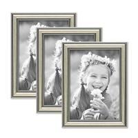 3er Bilderrahmen-Set Silber Barock Antik 13x18 cm Fotorahmen