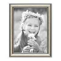 3er Set Bilderrahmen Silber Barock Antik 15x20 cm Fotorahmen mit Glasscheibe / Kunststoffrahmen – Bild 4