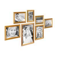 7er Bilderrahmen-Set Gold Barock Antik aus Kunststoff inklusive Zubehör / Bildergalerie / Foto-Collage – Bild 1