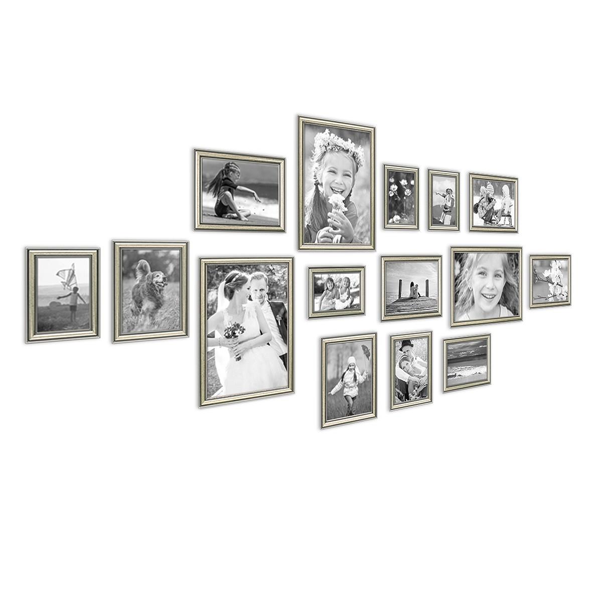 Bilderrahmen Antik Style aus Kunststoff in Antik Braun 20x30 bis 50x70