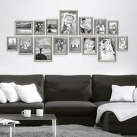 15er Bilderrahmen-Collage Silber Barock Antik aus Kunststoff inklusive Zubehör / Foto-Collage / Bildergalerie / Bilderrahmen-Set – Bild 1