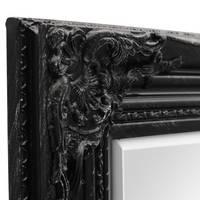 Wand-Spiegel im Barock-Rahmen Antik Schwarz mit Facettenschliff 64x84 cm / Spiegelfläche 50x70 cm – Bild 7