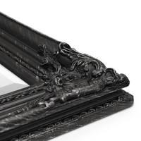 Wand-Spiegel im Barock-Rahmen Antik Schwarz mit Facettenschliff 64x84 cm / Spiegelfläche 50x70 cm – Bild 4