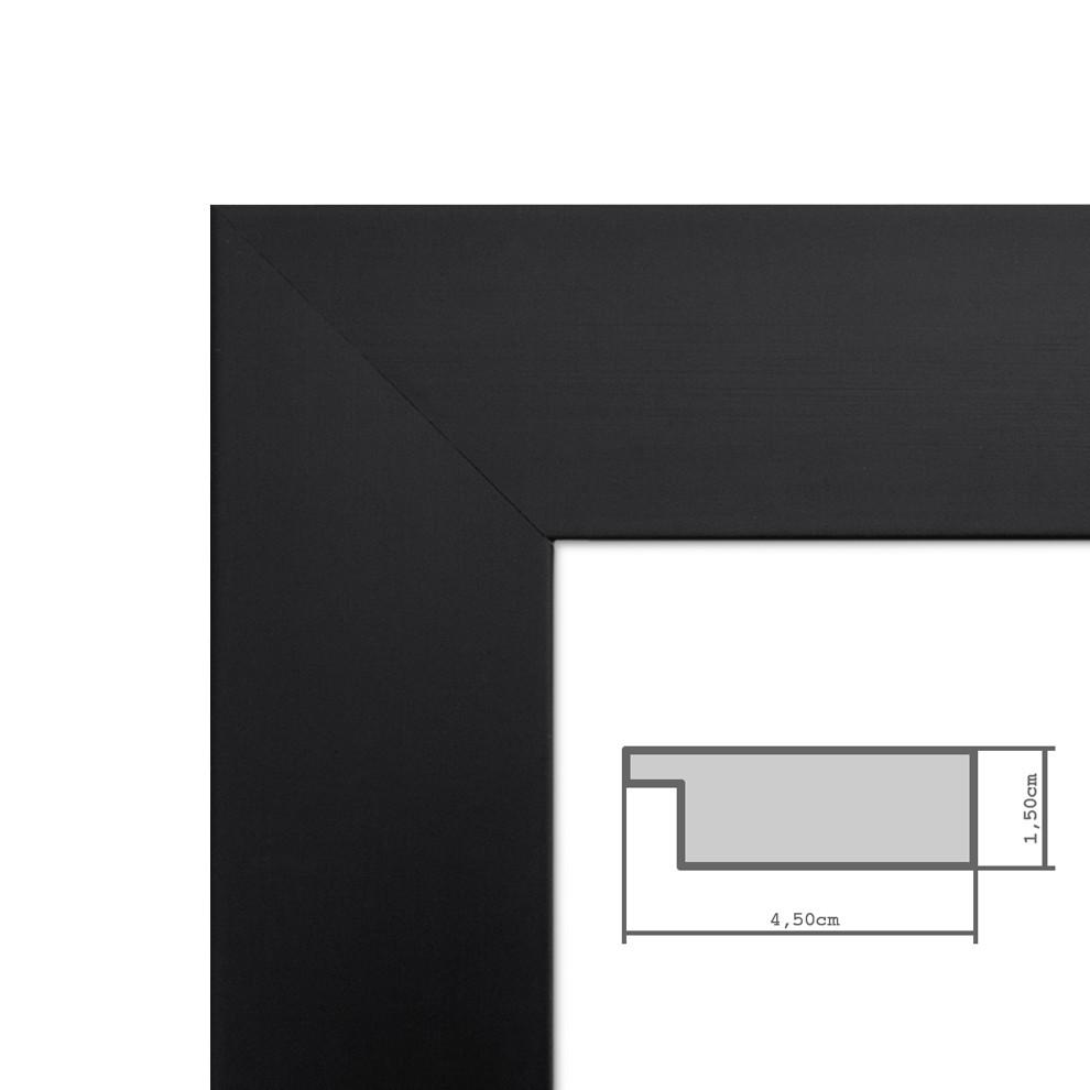 bilderrahmen 40x60 cm schwarz modern breit aus mdf mit. Black Bedroom Furniture Sets. Home Design Ideas