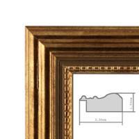 3er Set Bilderrahmen 21x30 cm / DIN A4 Gold Barock Antik Massivholz mit Glasscheibe und Zubehör / Fotorahmen / Barock-Rahmen  – Bild 2