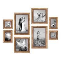 8er-Set Bilderrahmen Gold Barock Antik je 2 mal 10x10 10x15 20x20 und 20x30 cm inkl. Zubehör Fotorahmen / Barock-Rahmen