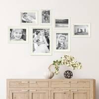 7er Bilderrahmen-Set Landhaus-Stil Shabby-Chic Weiss Massivholz / Fotorahmen / Portraitrahmen  – Bild 4