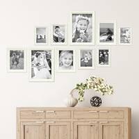 10er Bilderrahmen-Set Landhaus-Stil Shabby-Chic Weiss Massivholz / Fotorahmen / Portraitrahmen  – Bild 4