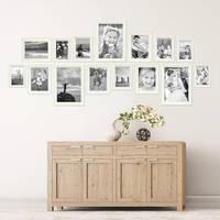 15er Bilderrahmen-Set Landhaus-Stil Shabby-Chic Weiss Massivholz / Fotorahmen / Portraitrahmen  – Bild 2