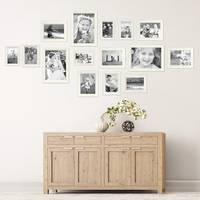 15er Bilderrahmen-Set Landhaus-Stil Shabby-Chic Weiss Massivholz / Fotorahmen / Portraitrahmen  – Bild 4