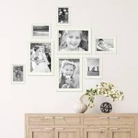 8er Bilderrahmen-Set Landhaus-Stil Shabby-Chic Weiss Massivholz / Fotorahmen / Portraitrahmen  – Bild 4
