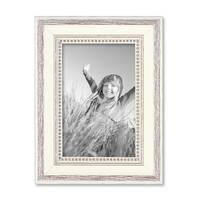 9er-Set Bilderrahmen Shabby-Chic Landhaus-Stil Weiss 10x15 bis 20x30 cm inkl. Zubehör / Fotorahmen – Bild 6