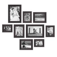 9er-Set Bilderrahmen Shabby-Chic Landhaus-Stil Dunkelbraun 10x15 bis 20x30 cm inkl. Zubehör / Fotorahmen – Bild 3