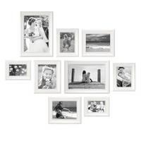 9er-Set Bilderrahmen Landhaus-Stil Weiss 10x15 bis 20x30 cm inkl. Zubehör / Fotorahmen – Bild 4