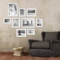 9er-Set Bilderrahmen Landhaus-Stil Weiss 10x15 bis 20x30 cm inkl. Zubehör / Fotorahmen – Bild 3