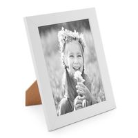 B-Ware: Bilderrahmen 21x30 cm Photolini Basic Collection Modern Weiss aus MDF  / 100-01