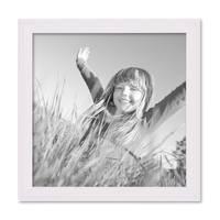 2er Set Landhaus-Bilderrahmen 20x20 cm Weiss Massivholz mit Glasscheibe und Zubehör / Fotorahmen  – Bild 3