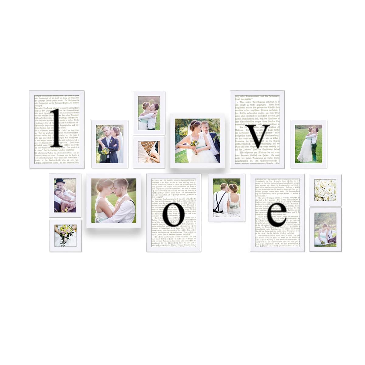 Hochzeitsfotos als Bilderrahmen-Collage Geschenke Hochzeitsgeschenke