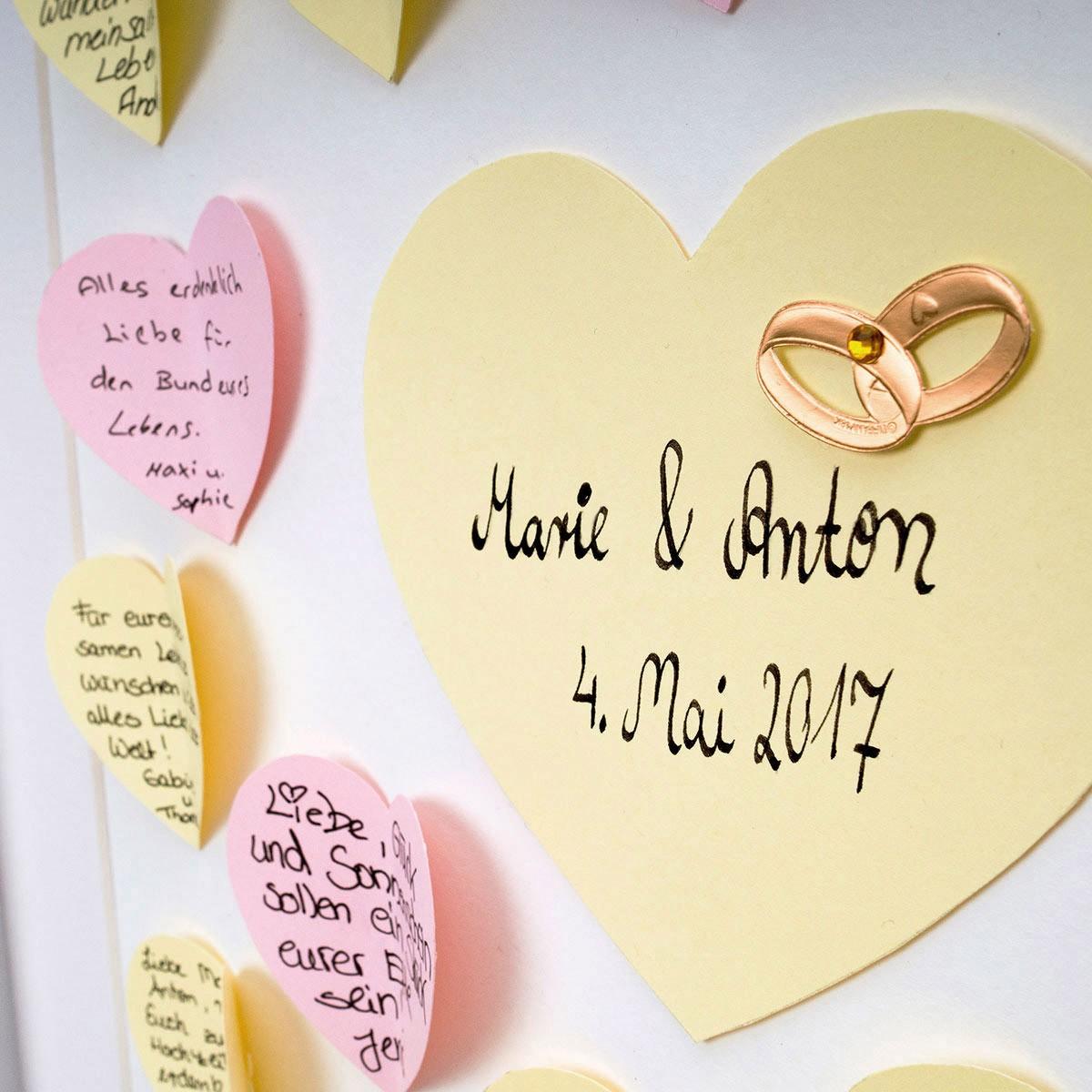 Bilderrahmen als Gästebuch Geschenke Hochzeitsgeschenke