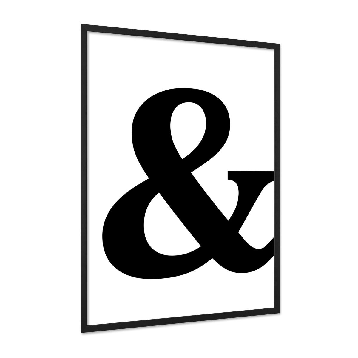design poster 39 und zeichen 39 30x40 cm schwarz weiss motiv typographie dekoration modern poster. Black Bedroom Furniture Sets. Home Design Ideas