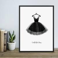Design-Poster 'Kleid' 30x40 cm schwarz-weiss Motiv Mode Dekoration – Bild 2