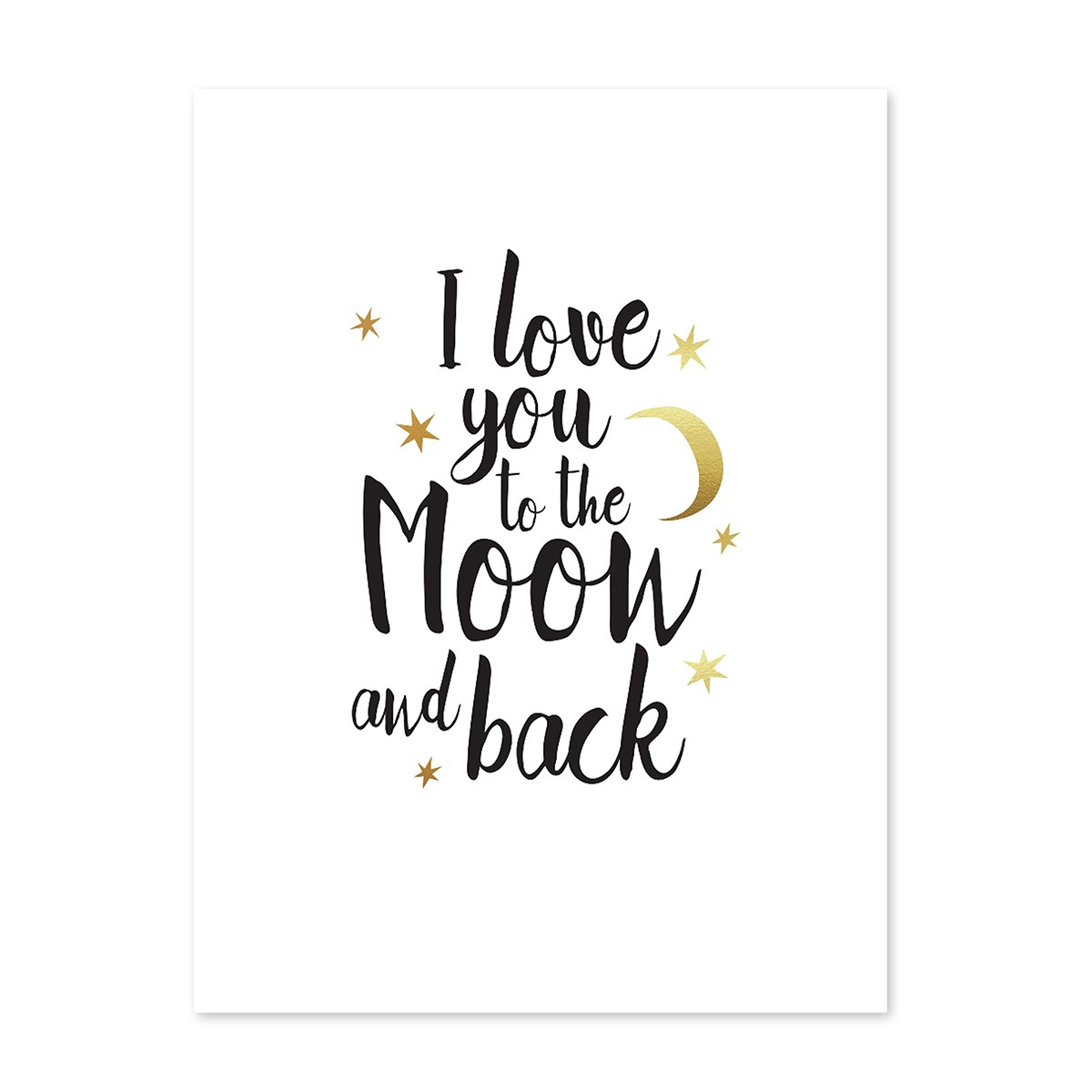Design poster 39 i love you to the moon 39 30x40 cm mit The designlover