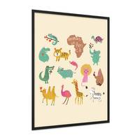 Poster 'Afrikas Tiere' 30x40 cm Kinderposter Motiv Tiere Natur Lernposter Bunt – Bild 4