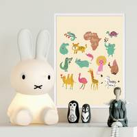 Poster 'Afrikas Tiere' 30x40 cm Kinderposter Motiv Tiere Natur Lernposter Bunt – Bild 2