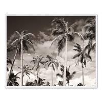 Poster mit Bilderrahmen Weiss 'Palmen' 30x40 cm schwarz-weiss Natur Landschaft Wechselrahmen – Bild 1