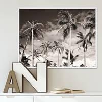 Poster mit Bilderrahmen Weiss 'Palmen' 40x50 cm schwarz-weiss Motiv Natur Landschaft – Bild 5