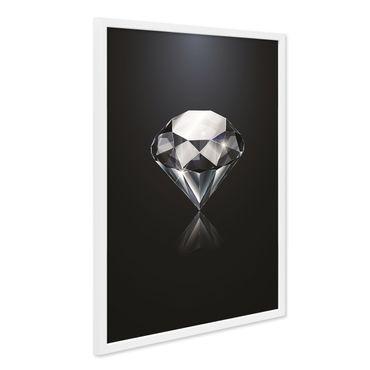 Design-Poster mit Bilderrahmen Weiss 'Diamant' 40x50 cm Motiv Mode
