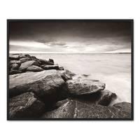 Poster mit Bilderrahmen Schwarz 'Küste' 40x50 cm schwarz-weiss Motiv Natur Landschaft Maritim – Bild 4
