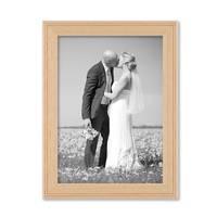 2er Set Landhaus-Bilderrahmen 13x18 cm Holz Natur Massivholz mit Glasscheibe und Zubehör / zum Stellen oder Hängen / Fotorahmen  – Bild 5