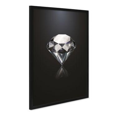 Design-Poster mit Bilderrahmen Schwarz 'Diamant' 40x50 cm Motiv Mode