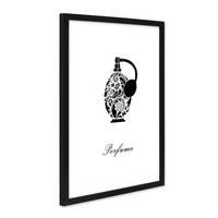 Design-Poster mit Bilderrahmen Schwarz 'Parfüm' 30x40 cm schwarz-weiss Motiv Mode Dekoration