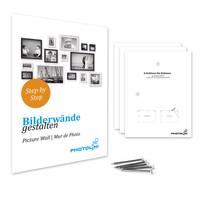 2er Bilderrahmen-Set 13x18 cm Schwarz Modern mit Silberkante Massivholz-Rahmen mit Glasscheibe und Zubehör / Fotorahmen  – Bild 6